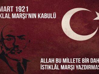 İstiklal Marşının Kabulü Sözleri