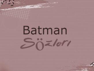 Batman İle İlgili Sözler